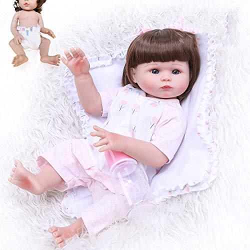 Muñeca de Silicona Suave de 47 CM, muñeca Reborn, Juguete