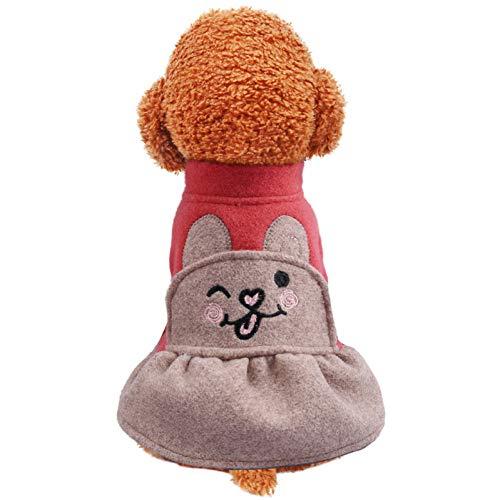 Huisdier Hond Mooie Prinses Jas Jurk Leuke Konijn Dansen Meisje Jurk Jas Puppy Hond Chihuahua Teddy Winter Herfst Kleding Rokken Pink L