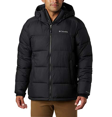 Columbia Pike Lake Hooded Jacket, Giacca Isolata con Cappuccio Uomo, Nero, S