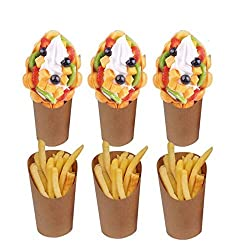 professional French fries holder, 50 pieces, discard, takeaway party, frozen cake, egg layer, waffle ice cream …
