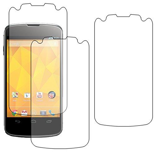 ebestStar - Set van 3 displaybeschermfolie compatibel met LG Nexus 4 E960, flexibel, anti-vingerafdruk, krasbestendig, luchtbelvrij, aanbrengen [apparaat: 133,9 x 68,7 x 9,1 mm, 4,7 inch]