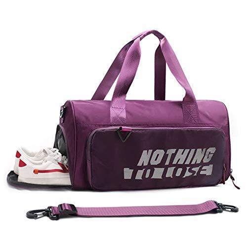 Sporttasche Damen Herren - Reisetasche mit Schuhfach Nassfach Umhängetasche für Fitnessstudio Reise, Wasserdicht Fitnesstasche Leicht Trainingstasche Gym Sport Tasche Handgepäck für Männer Frauen 35L