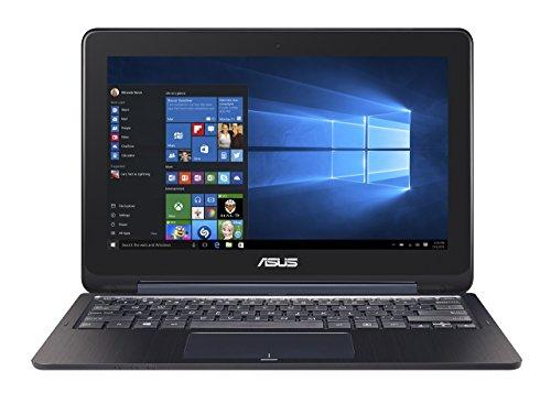 ASUS Transformer Book TP200SA-DH01T-BL 11.6 inch Display 2-in-1 Full HD Touchscreen Laptop, Intel Celeron Processor, 4GB RAM, 32GB EMMC Storage, Windows 10, Dark Blue Color ( )(Renewed)