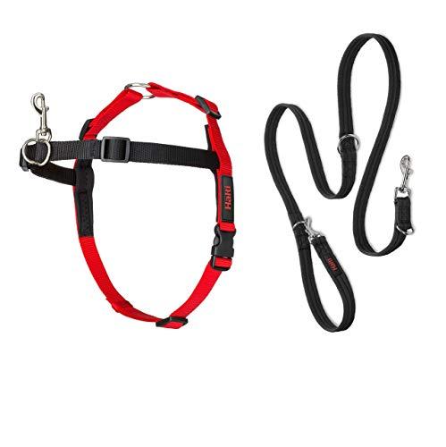 Halti Front Control Hundegeschirr und Trainingsleine, Large Harness, schwarz