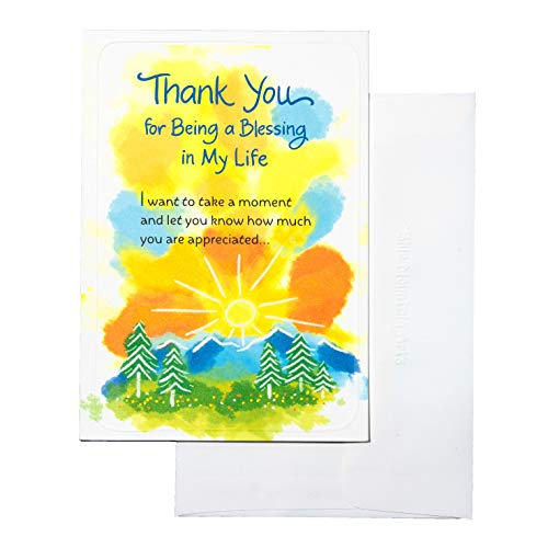 "Blue Mountain Arts Greeting Card ""Thank You for Being a Blessing in My Life"" Is a Perfect Way to Express Your Gratitude to Someone Special Who Has a Generous and Giving Heart (WCF653)"