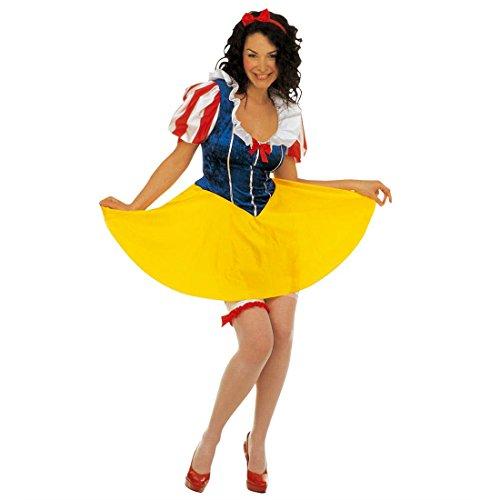 Schneewittchen Kostüm Märchen Prinzessin Kleid M 38/40 Prinzessinkleid Damen Märchenkostüm Prinzessinnen Faschingskostüm Snow White Karnevalskostüm Mottoparty Verkleidung Karneval Kostüme Frauen