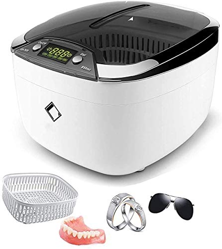 Ultrasonic Cleaner LifeBasis 850ml Ultrasonic Jewellery Cleaner Machine LCD Screen with 5 Digital Timer Watch Stand CD Holder for Jewelry CD DVD Watches Dentures Glasses