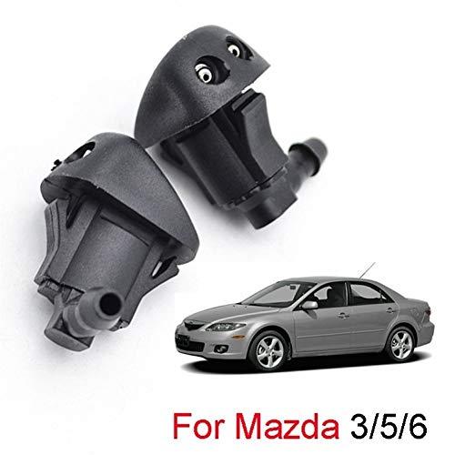 KangKangPL 2ST Frontscheibenwischers Waschdüse Düse for Mazda 3 MK1 2003-2009 5 MK2 2.006-2.010 6 MK1 2002-2008 Qualitätsmaterialien (Color : Black)