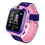 Reloj inteligente para niños, resistente al agua, reloj inteligente con posicionamiento para niños, pantalla táctil, cámara, chat de voz, despertador, para niños, niñas, estudiantes, regalo