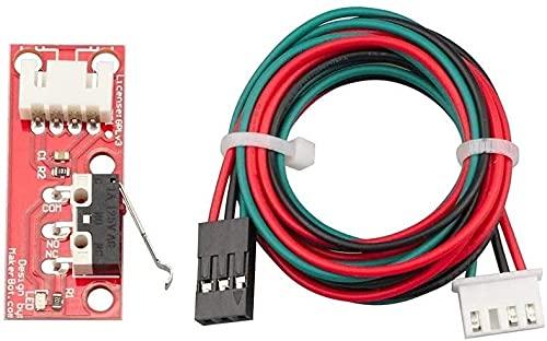 Buena estabilidad Accesorios para impresoras 1pc Impresoras 3D Partes E-NDStop Interruptor de límite mecánico con cable de 3pin para R-Amps 1.4 C-ANTROL Tablero Accesorios de interruptor de la placa 3