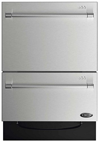 DCS DD24DV2T7 24' Energy Star Qualified Double DishDrawer Dishwasher with 14 Place Settings SmartDrive Technology 9 Wash Cycles and Child Lock: Stainless