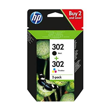 HP Lot de cartouches d'encre d'origine HP Deskjet 2132 F6U65AE 1 x noir F6U66AE 1 x couleur F6U65AE