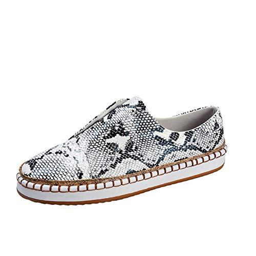 DAIFINEY Damen Slippers Espadrilles Leopard leichte Sommer Pantoffeln geschlossene Ballerinas Hausschuhe Freizeitschuh(1-Grau/Gray,40)
