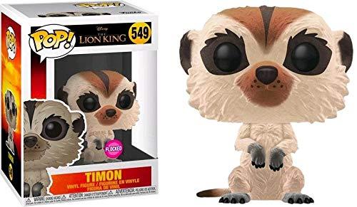 USA OFFICIAL El rey León Funko Pop 549 Flocked Timon Figure 9 cm película 2019 Disney Cinema Film
