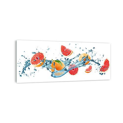 DekoGlas Küchenrückwand 'Grapefruit im Wasser' in div. Größen, Glas-Rückwand, Wandpaneele, Spritzschutz & Fliesenspiegel