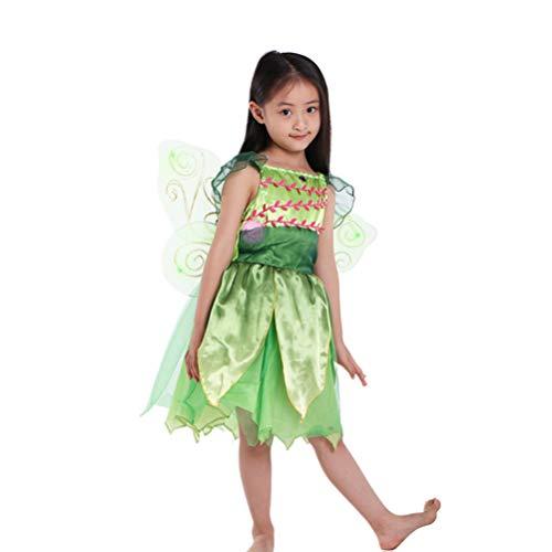 Happyyami Traje de Tut de Hada de Halloween Traje de Hada de Tinkerbell Disfraz de Hada de Los Dientes Vestido de Cosplay de de Elfo para Adorno de Fiesta de Cosplay ( Trajes para 4- 6
