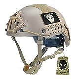 Combate ajustable DE corte alto XP casco (L/XL) DE para ejército militar táctico Paintball Airsoft CQB tiroteo estilo