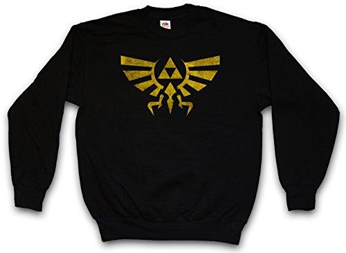 Triforce Vintage Logo Sweatshirt Pullover - Legend Link Symbol Game Zelda Triforce T-Shirt Größen S - 3XL (XXL)