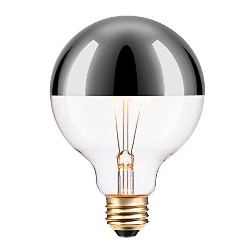 Globe Electric 84650 Designer 40W Chromeo Design Bulb, 1-Pack, Chrome