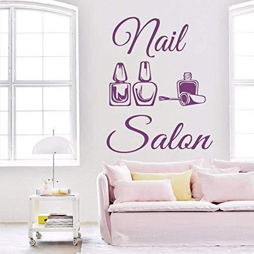 Nagel Salon Logo Muursticker Poolse Art Muursticker Manicure Design Beauty Salon Decor Vinyl Slaapkamer Woonkamer Decoratie 57 * 73 cm