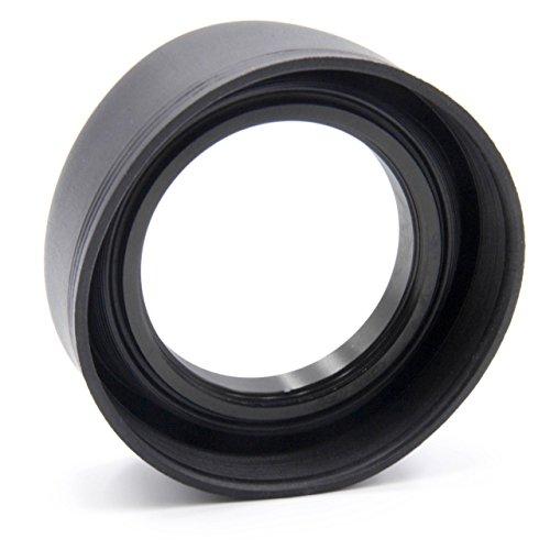 vhbw Gegenlichtblende kompatibel mit Sony 28 mm 2.8, 55-210 mm F4.5-6.3 (SEL-55210), DT 1.8/50 SAM, DT 2.8/30 Macro SAM Objektiv Gummi 49mm schwarz
