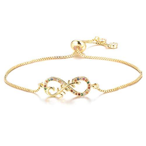 Jewellery Bracelets Bangle For Womens Elegant Cubic Zirconia Bracelet With Olive Branch Slider Chain Love Couple Bracelets For Women Wedding Jewelry