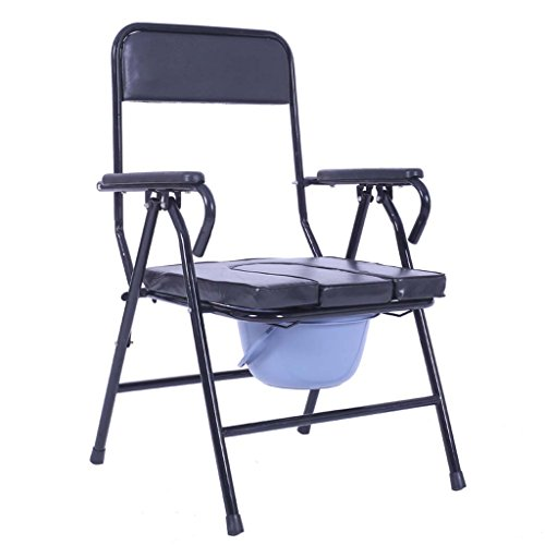 Guo Shop- Commode chaise âgées femmes enceintes handicapées en acier tube confortable pliant 54 * 56 * 89cm Salle de bain Tabourets