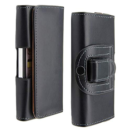 Black Case Fit for Smartphone iPhone Xs Max Universal Waist Belt Holster Pouch Clip Leather Cover fit for iPhone 6 6s Plus 7 8 Plus Huawei P9 Holster Phone Case 6.3'' x 3.23'' x 0.5''