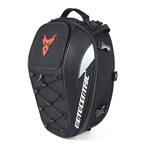 Bolsa de sillín de moto, impermeable, con espacio para el casco de moto, para el casco de moto, tank, sillín de almacenamiento, moto, asiento trasero, accesorio de gran capacidad
