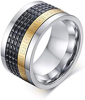 خاتم دوار من الفولاذ المقاوم للصدأ يمكن استخدامه في مجوهرات الرجال السوداء الأنيقة
