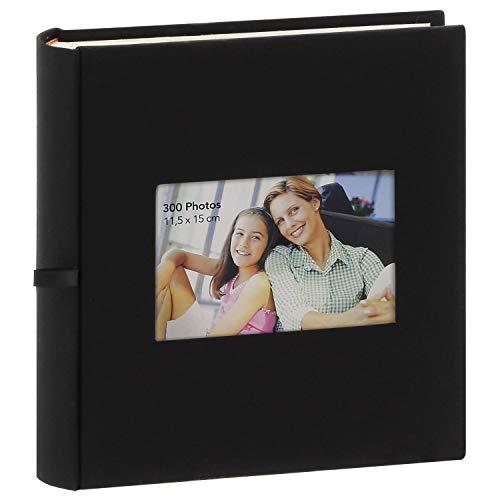 Album Photo à pochettes Square Noir 300 photos 11.5x15 cm