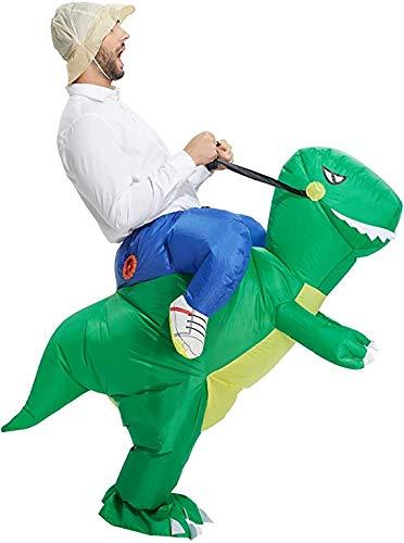 Echden Disfraz hinchable Carry-Me Huckepack de dinosaurio Cosplay para adultos, carnaval, fiesta...