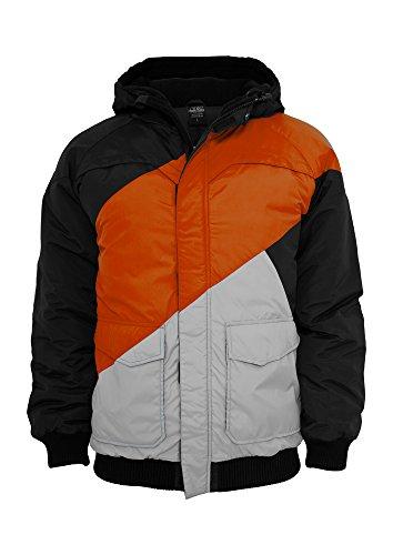 TB435 Zig Zag Fastlane Jacket Herren Winter Jacke Kapuze, Größe:M;Farbe:blkredgry