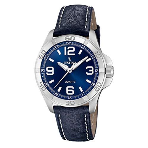 Festina Watches Montre Homme Analogique Quartz avec Bracelet Cuir F20444/2