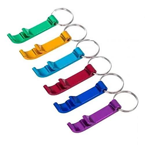 ERDING SchlüSselanhäNger,Einfache tragbare 4 in 1 Flaschenöffner Schlüsselanhänger Metallöffner Schlüsselanhänger Bier Bar Tool einzigartiges Geschenk Schlüsselanhänger