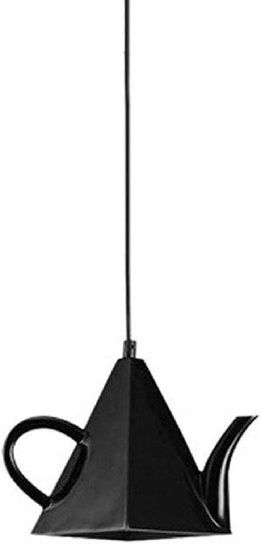 SPA  Teekanne LED Hngelampe Modernes Metallpendelleuchte Art Deco Light Kreative Eisen Kronleuchter Theme Restaurant Cafe Western Restaurant Kettenlnge  59 Zoll (150cm) (Farbe  Schwarz)