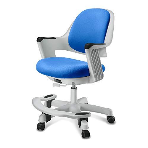 SitRite Ergonomic Kids Desk Chair Children Study Student Computer Home School Office Height Control Easy to Assemble (Ocean Blue, Non-Swivel)