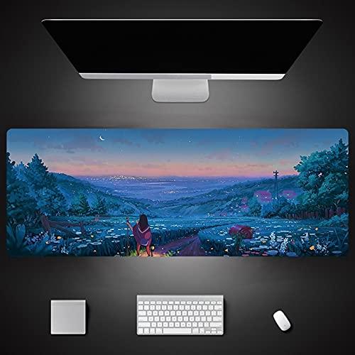 Impresión de Dibujos Animados Xxl Alfombrilla de Ratón Grande Teclado Alfombrilla de Ratón Mesa de Reposamuñecas Alfombrilla de Ratón de Ordenador 800X300X3Mm