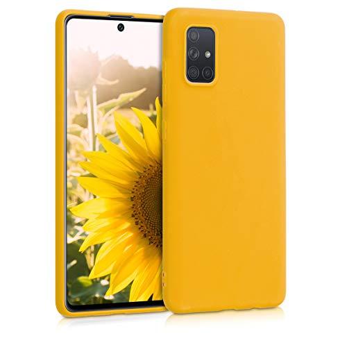 kwmobile Hülle kompatibel mit Samsung Galaxy A71 - Handyhülle - Handy Hülle in Honiggelb