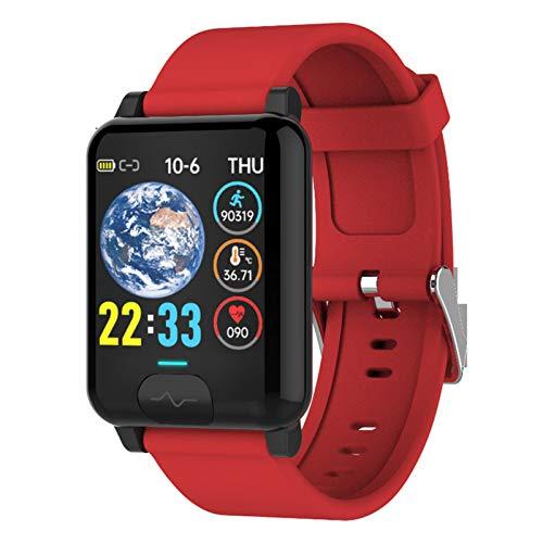 Wsaman Pulsera Actividad Deportivos Fitness Tracker con 1.3 Inch Pantalla Táctil Sueño Podómetro Smartwatch Cardíaco Monitor de Actividad Impermeable IP68, para Android/iOS/Hombre/Mujer,Rojo