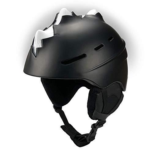Ski Helm Für Kinder - Bones Spike (Schwarz, Medium)