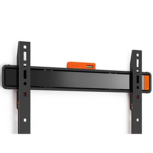 Vogels WALL 3305 - TV Wandhalterung für extra große (40-100 Zoll) und schwere (max. 80 kg) Fernseher, Fernsehhalterung, TV halter, Flach, Starr, VESA max. 600 x 400 mm, schwarz