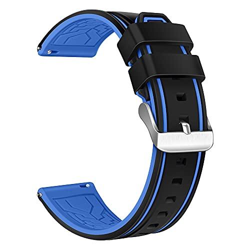 XMUXI Compatible con Samsung Gear S3 Frontier, Samsung Galaxy Watch 46 mm, correa de repuesto de silicona transpirable de 22 mm para reloj inteligente Huawei GT2 (#6).