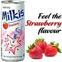 Lotte Milkis Soft Soda Variety Favor (Strawberry, Pack of 6)