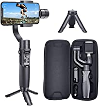 Hohem iSteady Mobile Plus 3-Axis Handheld Gimbal Stabilizer Max. 280G 600° Roll Inception Mode Auto Face Tracking Compatible with iPhone 12/11 and Android Smartphones