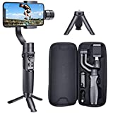 Hohem Smartphone Gimbal 3-Axis Handheld Stabilizer for iPhone 11/11pro/ Xs/Xs Max/Xr/X, for Android Smartphones, Samsung Galaxy S10/S10 Plus, for Youtuber/Vlogger (iSteady Mobile Plus)