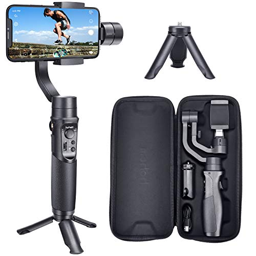 Hohem Smartphone Gimbal 3-Axis Handheld Stabilizer for iPhone 11/11pro/11pro max/Xs/Xs Max/Xr/X, for Android Smartphones, Samsung Galaxy S10/S10 Plus, for Youtuber/Vlogger (iSteady Mobile Plus)