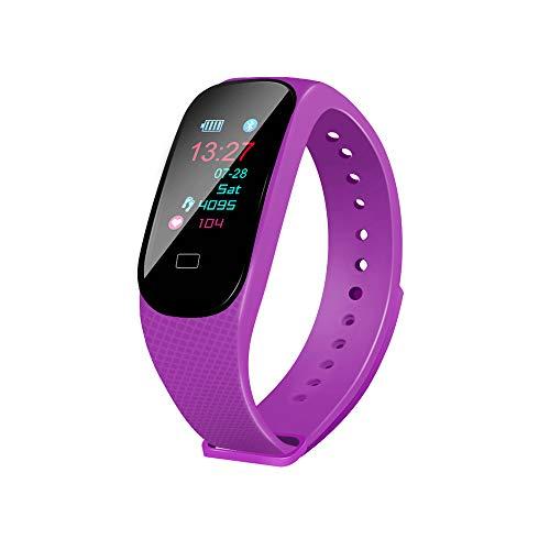 Aikwoo - Pulsera inteligente de seguimiento de actividad física con monitor de ritmo cardíaco, impermeabilidad IP67, Bluetooth, podómetro, monitor de sueño, para niños, mujeres y hombres