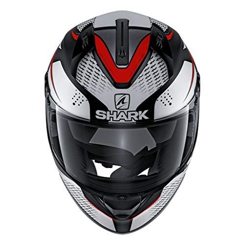 SHARK HE0543DKWRL Unisex-Adult Full Face Helmet (Black/White/Red, L - 59-60 cm - 23.2-23.6