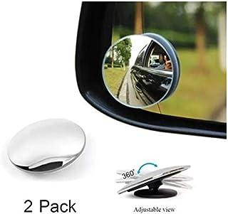SHOPPLR - Blind Spot Mirror 360°Rotatable Waterproof Convex Mirrors for Cars, SUVs & Trucks - 2 PACK
